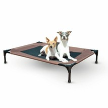 """KH Pet Products Original Pet Cot Elevated Pet Bed Large Chocolate/Mesh 30"""" x 42"""" image 2"""