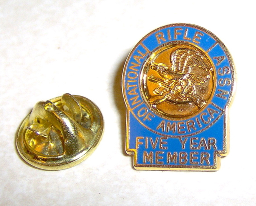 National Rifle Assn of America 5 Year Member Pin