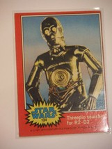 Star Wars Series 2 (Red) Topps 1977 Trading Card # 124 Threepio Searches for R2 - $1.49