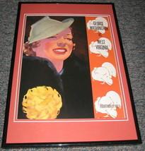 WVU West Virginia vs George Washington Football Framed 10x14 Poster Repro - $46.39