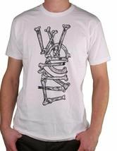 WeSC We Are Superlative Conspiracy Bianco Uomo Breakin Ossa Logo T-Shirt Nwt