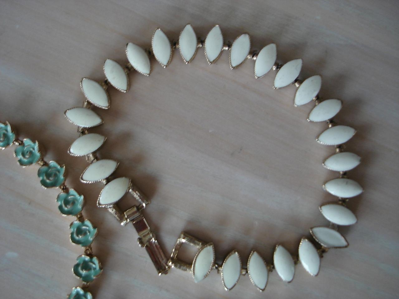Goldtone Costume Jewelry Enameled Lot of 3 Bracelets