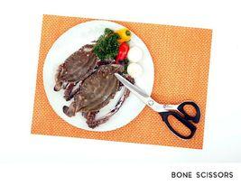 Peace Bone Meat Scissors Shears Kitchen Cutlery Chicken Turkey 4T Sharp Blade image 8
