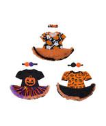 StylesILove Baby Girl Halloween Short Sleeve Romper Tutu Party Dress and... - $18.99