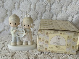 Enesco Precious Moments Porcelain God Blessed Our Years Together 1983 Figure - $14.54