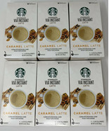 Starbucks VIA Instant Caramel Latte Coffee Beverage 30 count Best By 7/27/20 - $29.99
