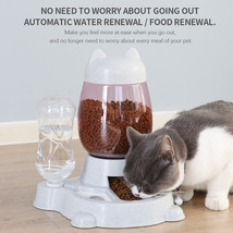 Automatic Pet Feeder Cat Dog Large Food Dispenser&Water Fountain Drink B... - $19.99