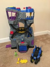 Fisher-Price Imaginext Batman Batcave House With Light Riddler Motorized... - $29.69