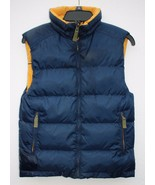 "London Fog Boys Young Men 36"" Chest Zipper Front Navy Yellow Reversible ... - $24.74"