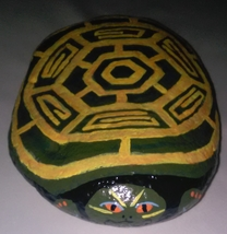 Trutle - Large size painted on a rock image 2