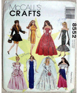 McCalls Crafts 8552 VTG, Fashion Wardrobe Doll 8 Dresses Gowns Bridal Dr... - $11.00