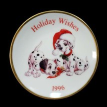 Disney Hallmark Ornament 101 Dalmations Plate Porcelain QX16544 in Box - $18.37