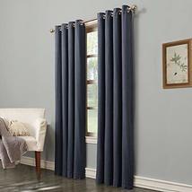 allen + roth Hesket 84-in Dark Blue Polyester Grommet Light Filtering Single Cur - $33.30