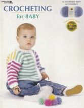 Crocheting for Baby, Leisure Arts Pattern Booklet 3524 Sacque Blanket Bo... - $5.95