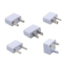 5 Piece International AC Plug Adapter Set for Europe; Middle East & Afri... - $13.37