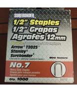 "Surebonder No. 7 1/2"" Heavy Duty Wire Tacker Staples 1000 Pack 55212 - $5.45"