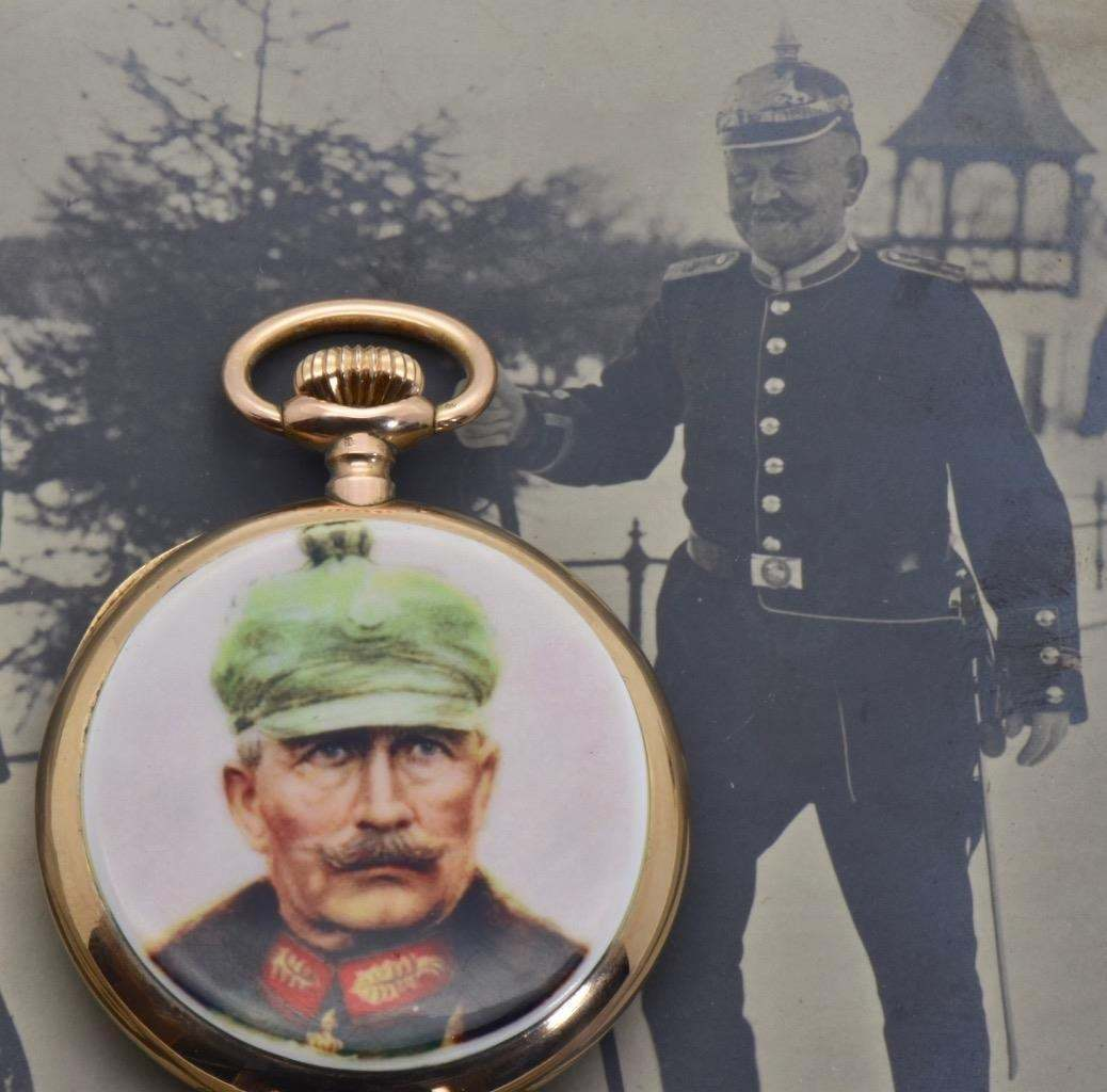Primary image for Important WWI 18k Gold&enamel Longines watch awarded by German Kaiser Wilhelm II