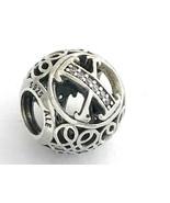 Authentic Pandora Vintage X Sterling Silver Letter Charm, 791868CZ New - $30.86