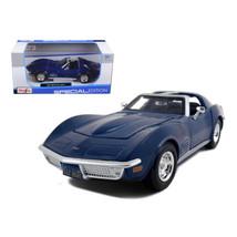 1970 Chevrolet Corvette Blue 1/24 Diecast Model Car by Maisto 31202bl - $28.33