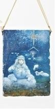 "Roman 5"" Shephard Boy with Sheep Hanging Plaque Christmas Ornament - $16.82"