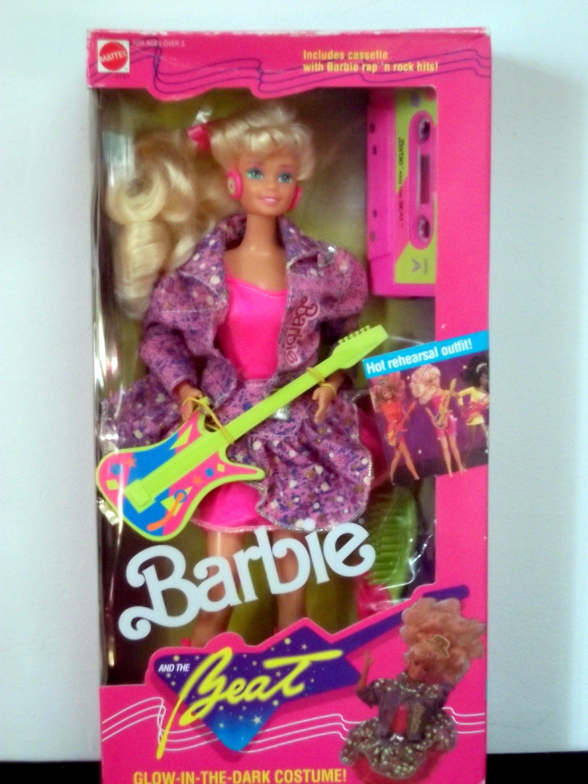 Primary image for 1989 Midge Barbie and the Beat Doll w Cassette and Guitar - MIB
