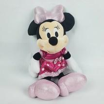 "Disney Minnie Mouse 16"" Plush Dress Hard Plastic Bow Does Not Talk or Li... - $12.13"