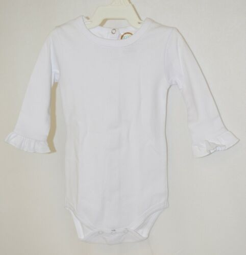Blanks Boutique White Long Sleeve With Ruffle Bodysuit 3 To 6 Months