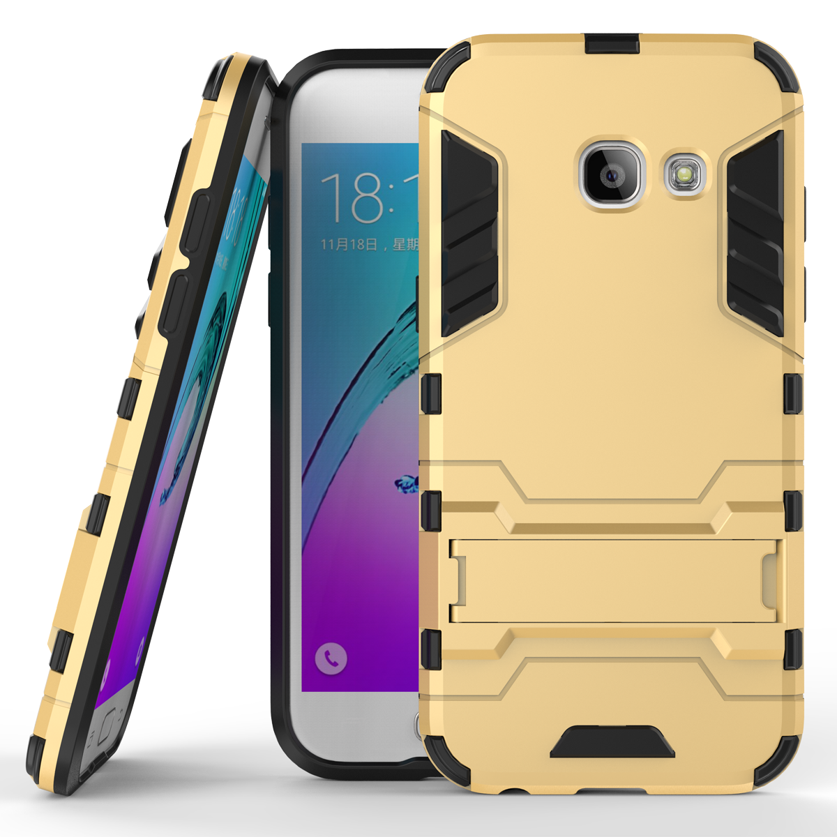 D armor kickstand protective phone cover case for samsung galaxy a3 2017 gold p20161229135854406