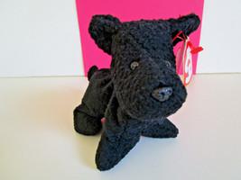 TY Beanie Babies SCOTTIE Black Terrier DOG PLUSH Stuffed Toy 1996 New w/... - $5.54