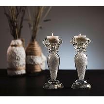 "Matashi Premium 6"" Crystal Candlesticks, Radiant Gems Inside Stem Gift f... - $65.48"