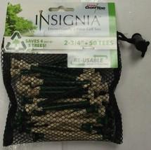 "Pride 2345050 Golf Insignia Golf Tee 50pcs 2 3/4"" Green/Natural Drawstri... - $2.08"
