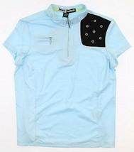 JAMIE SADOCK ATOMICA LIGHT BLUE BLACK COOLTREX GOLF  ZIP TOP SHIRT S 911... - $42.75