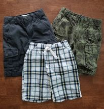 3 Gap Old Navy Jumping Beans Boys Shorts Sz 7 Green Gray Cargo White Blu... - $14.99