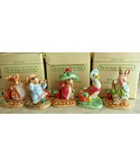 5 1993 Schmid Beatrix Potter Birthday Candle Holders NEW IN THE BOX - $123.74
