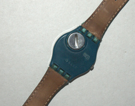 SWATCH Stop SSB100 Jess' Rush 1993 Swiss Made Wristwatch Rubber Strap Vintage image 11