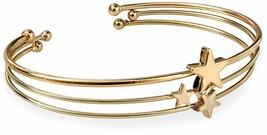 Fortuni Plaqué Or Triple Étoile Réglable Bracelet Ouvert Manchette Bracelet