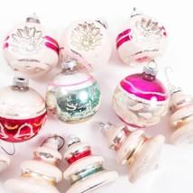 Lot 11 Shiny Brite Vintage Indents Bells Stenciled Flocked Christmas Orn... - $49.49