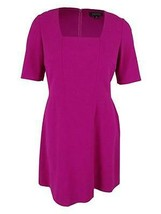 Tahari Women's Square Neck Dress, Magenta, 14 - $49.49