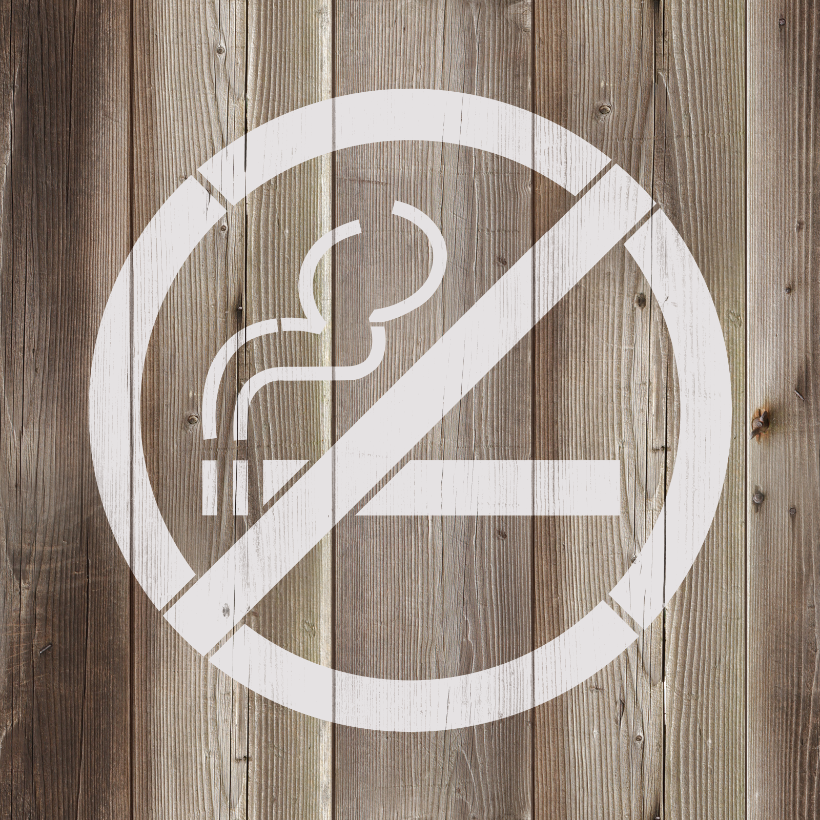 No Smoking Stencil - Reusable Stencils of a No Smoking Sign