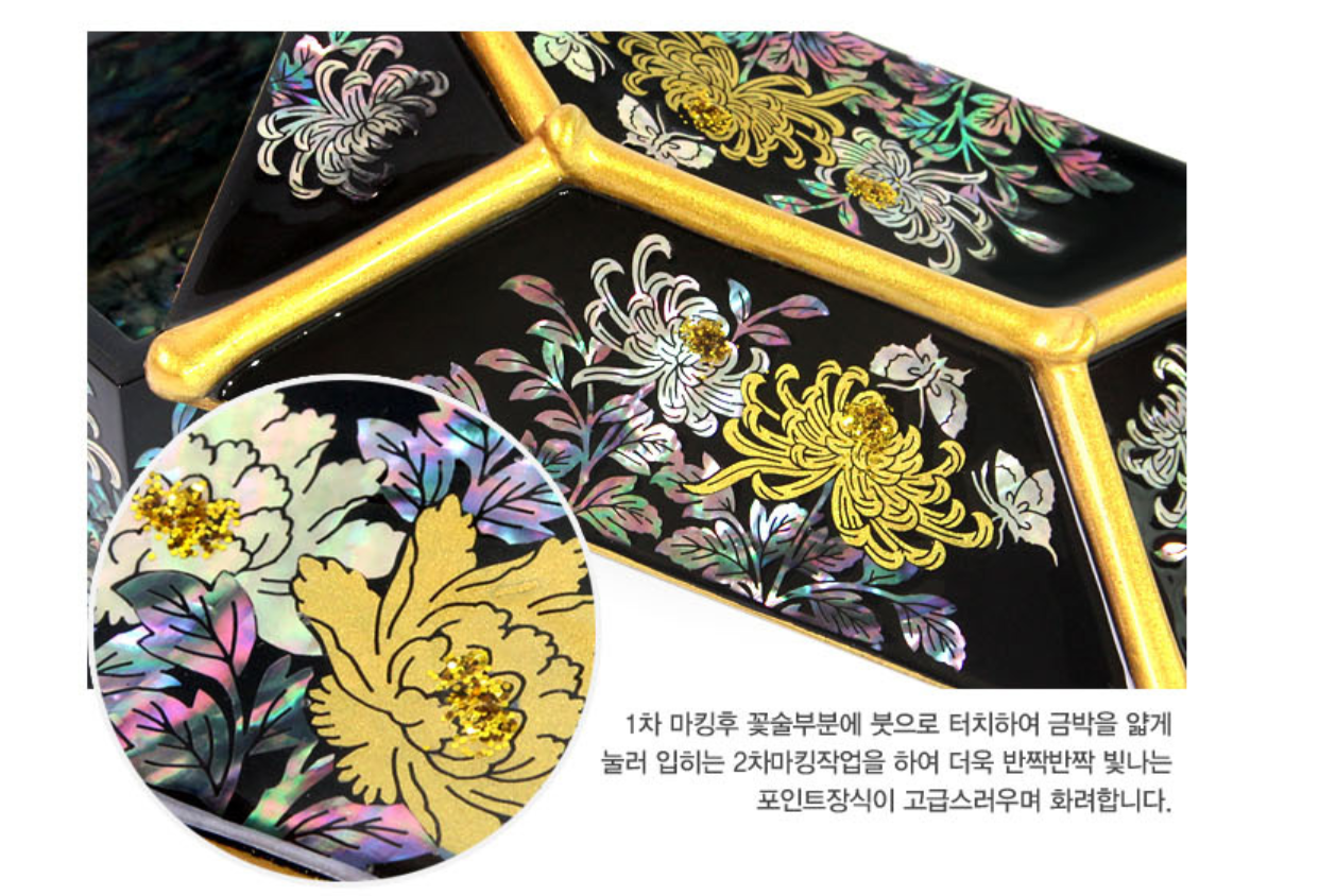 Christmas Pearl lacquerware business cards KCulture Korea