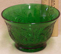 Vintage Anchor Hocking Forest Green Small Custa... - $10.88