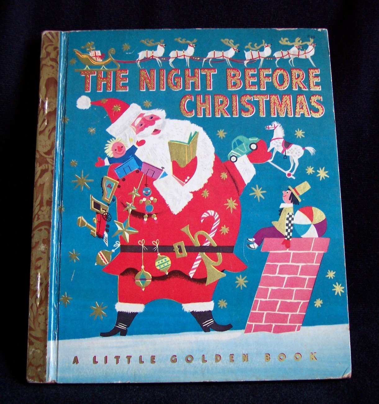 Vintage golden book quot the night before christmas