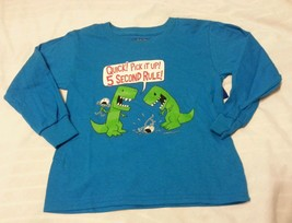 Boys Tee Shirt XS 4-5 Turquoise Kids 5 Second Rule! - $8.98