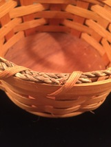 Eli Hershberger Amish woven basket with leather handles image 4