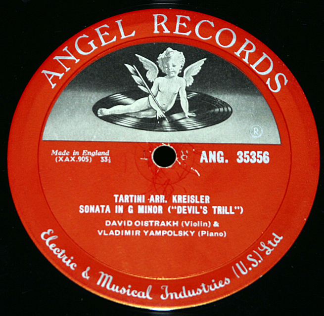 Tartini & Mozart  (Angel 35356)    LP