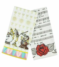 Cogsworth Lumiere Beauty & The Beast Kitchen Dish Towels Set 2 Disney Parks NEW - $31.61