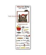 Peekaboo Tabby Santa Cat Christmas Flour Sack Towel with Kitty Cat Treat... - $11.30