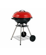 Brentwood BB-1701 17-Inch Portable Charcoal BBQ Grill, Red - £46.90 GBP