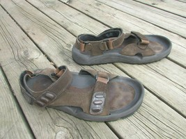 Men's Rockport XCS Brown Leather Hook Loop Sandals Slingback Size 12 M N... - $30.62 CAD