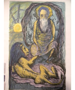 Benton Murdoch Spruance (1904-1967)   . listed artist . St Jerome Print - $750.00
